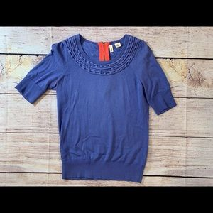 Women's Moth Blue Small 3/4 Sleeve Q3